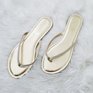 gold rhinestone sandals